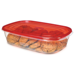 "Rubbermaid® TakeAlongs® 1 Gallon Rectangle Containers - 14.43"" L x 9.68"" W x 3.34"" H"
