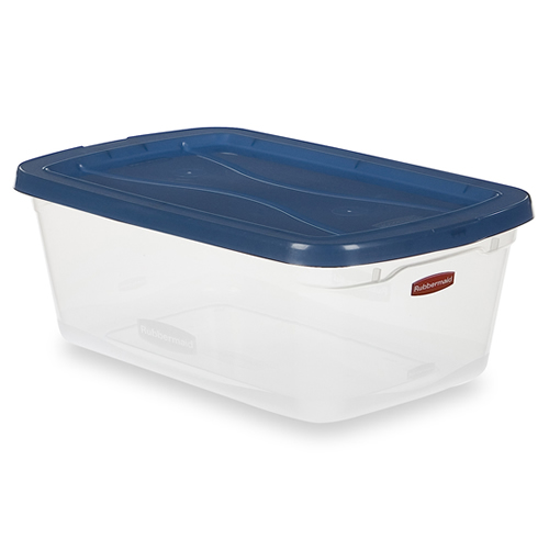 """Quart Clear Clever Store Basic Box with Blue Lid - 13.3"""" L x 8.5"""