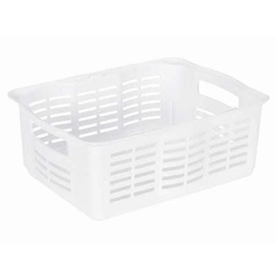 "Rubbermaid® Large White Stackable Storage Basket - 15.875""L x 12""W x 6.125""H"