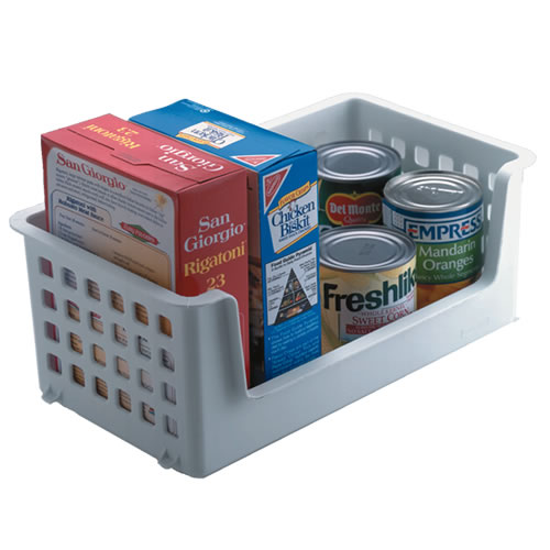 "Rubbermaid® Slide 'n Stack 14"" Stacking Basket -  8"" L x 14"" W x 5.8"" H"