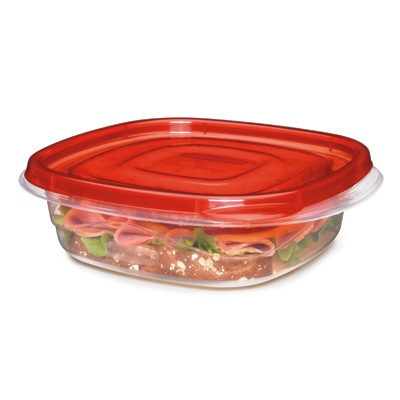 "Rubbermaid® TakeAlongs® 2.9 Cup Sandwich Containers - 6.94"" L x 6.51"" W x 2"" H"