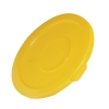 "Yellow Lid for 10 Gallon Rubbermaid® Brute® - 17.13"" Dia. x 1.25"" H"