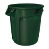 "20 Gallon Dark Green Rubbermaid® Brute® - 19.38"" Dia. x 22.91"" H"