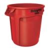 "20 Gallon Red Rubbermaid® Brute® - 19.38"" Dia. x 22.91"" H"
