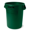 "55 Gallon Dark Green Rubbermaid® Brute® - 26.38"" Dia. x 33.19"" H"