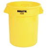 "55 Gallon Yellow Rubbermaid® Brute® - 26.38"" Dia. x 33.19"" H"