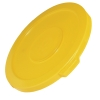 "Yellow Flat Lid - 29.06"" Dia. x 2.09"" H"