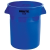 "55 Gallon Blue Rubbermaid® Brute® - 26.38"" Dia. x 33.19"" H"