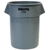 "55 Gallon Gray Rubbermaid® Brute® - 26.38"" Dia. x 33.19"" H"