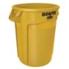 """32 Gallon Yellow Rubbermaid® Brute® - 21.92"""" Dia. x 27.77"""" H"""