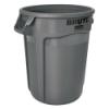 """32 Gallon Gray Rubbermaid® Brute® - 21.92"""" Dia. x 27.77"""" H"""
