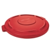 "Red Lid for 32 Gallon Rubbermaid® Brute® - 22.41"" Dia. x 1.85"" H"