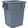 "40 Gallon Gray Square Brute® Container - 23-1/2"" Sq. x 28-3/4"" Hgt."
