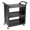 Black Utility Cart with End Panels