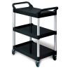 Black Utility Cart w/Auminum Uprights