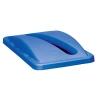 """Blue Slim Jim® Paper Recycling Top 20-3/8"""" x 11-5/16"""" x 2-3/4"""""""