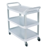 "White Open Sided Rubbermaid® X-Tra™Cart - 40-5/8"" L x 20"" W x 37-13/16"" H"