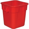 "28 Gallon Red Square Brute® Container - 21-1/2"" Sq. x 22-1/2"" Hgt."