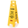 4 - Sided Closed Imprint Multi Lingual Floor Sign