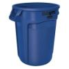 "32 Gallon Blue Rubbermaid® Brute® - 21.92"" Dia. x 27.77"" H"
