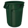 "32 Gallon Dark Green Rubbermaid® Brute® - 21.92"" Dia. x 27.77"" H"