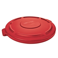 "Red Lid for 20 Gallon Rubbermaid® Brute® - 19.88"" Dia. x 1.8"" H"