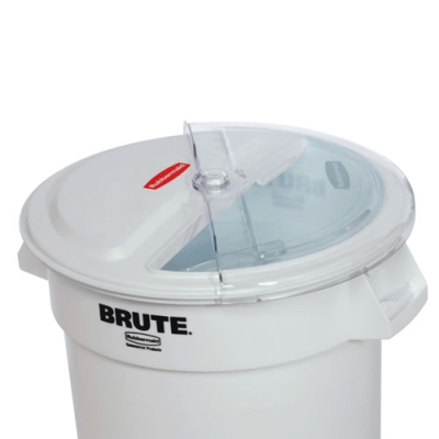 White Rubbermaid Commercial ProSave Sliding Lid with 3 Cup Scoop