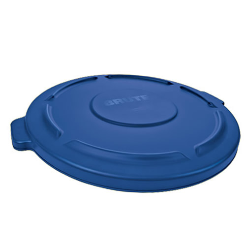 "Blue Lid for 20 Gallon Rubbermaid® Brute® - 19.88"" Dia. x 1.8"" H"