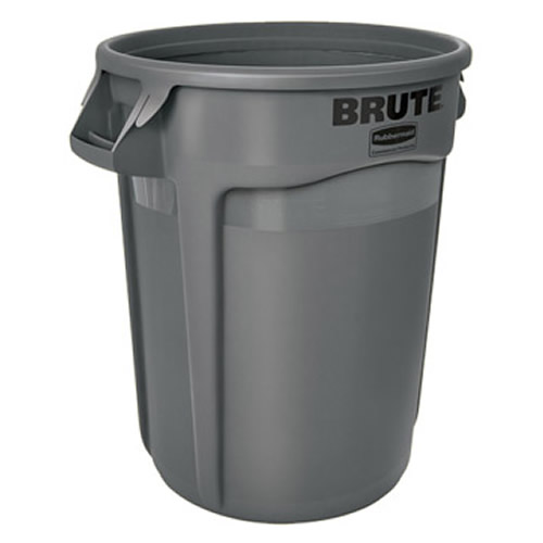 "32 Gallon Gray Rubbermaid® Brute® - 21.92"" Dia. x 27.77"" H"