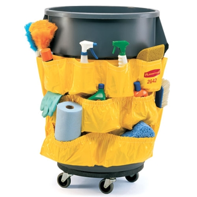 "Yellow Rubbermaid® Caddy Bag for 32 & 44 Gallon Brute® - 20"" x 20-1/2"""