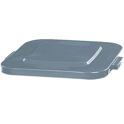 Gray Flat Lid for 28 Gallon Square Brute® Containers