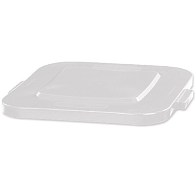 White Flat Lid for 40 Gallon Square Brute® Containers