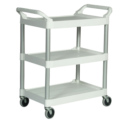 Off White Utility Cart w/Auminum Uprights