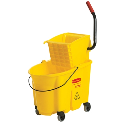 "Yellow 35 Qt. WaveBrake® Side Press Combo - 20.1""L x 16.44""W x 21.63""H"