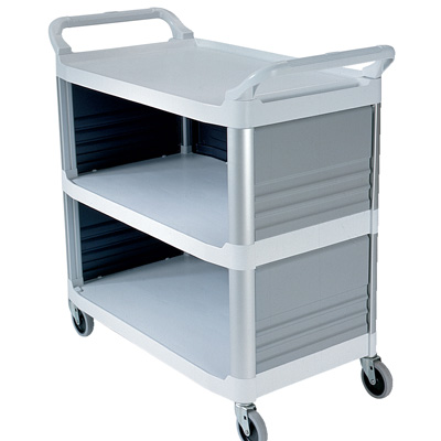 """Off White Enclosed on 3 Sides Rubbermaid® X-Tra™ Cart - 40-5/8"""" L x 20"""" W x 37-13/16"""" H"""