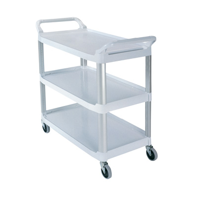 """Gray Open Sided Rubbermaid® X-Tra™ Cart - 40-5/8"""" L x 20"""" W x 37-13/16"""" H"""
