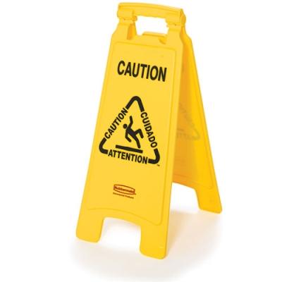 2 - Sided Caution Imprint Multi Lingual Floor Sign