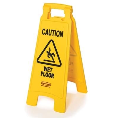 2 - Sided Wet Floor Imprint Floor Sign