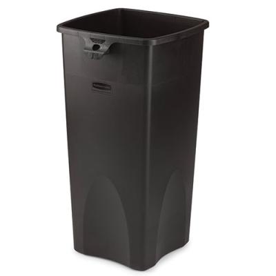 """23 Gallon Square Black Container 16.5"""" L x 15.5"""" W x 30.9"""" H"""