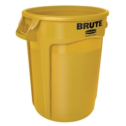 "32 Gallon Yellow Rubbermaid® Brute® - 21.92"" Dia. x 27.77"" H"