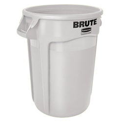 "32 Gallon White Rubbermaid® Brute® - 21.92"" Dia. x 27.77"" H"