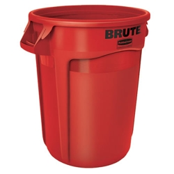 "32 Gallon Red Rubbermaid® Brute® - 21.92"" Dia. x 27.77"" H"