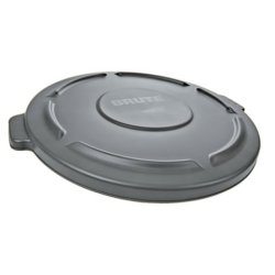 "Gray Lid for 32 Gallon Rubbermaid® Brute® - 22.41"" Dia. x 1.85"" H"