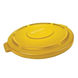 "Yellow Lid for 32 Gallon Rubbermaid® Brute® - 22.41"" Dia. x 1.85"" H"