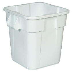 "28 Gallon White Square Brute® Container - 21-1/2"" Sq. x 22-1/2""H"