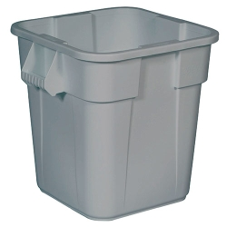 "28 Gallon Gray Square Brute® Container - 21-1/2"" Sq. x 22-1/2""H"
