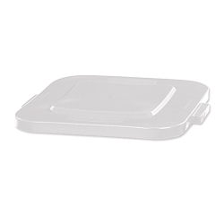 White Flat Lid for 28 Gallon Square Brute® Containers