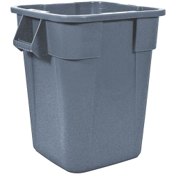 "40 Gallon Gray Square Brute® Container - 23-1/2"" Sq. x 28-3/4""H"