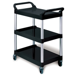 Black Utility Cart w/Auminum Uprights