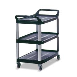 "Black Open Sided Rubbermaid® X-Tra™ Cart - 40-5/8"" L x 20"" W x 37-13/16"" H"